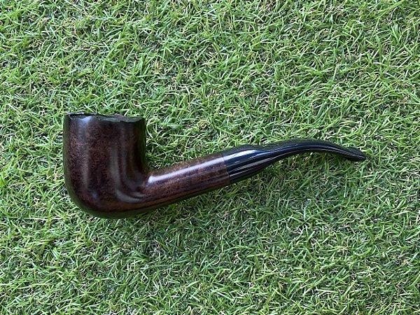 Cachimbo Maestro Briar Semi Bent - Pot Rustic COD88
