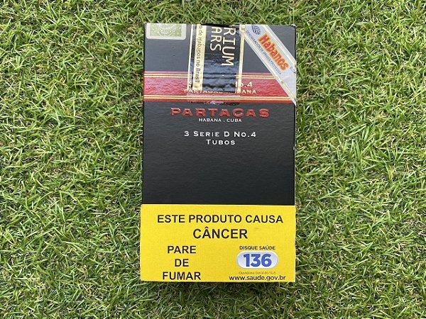Charuto Cubano Partagas D4 Tubos - Peteca com 3 Unidade