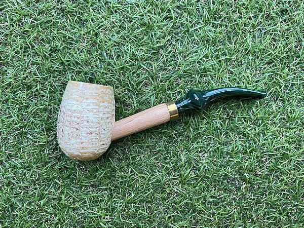 Cachimbo Americano Corn Cob - Emerald Curvo