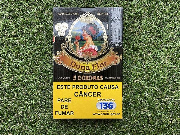 Charuto Dona Flor Capa Mata Fina Corona - Petaca com 5