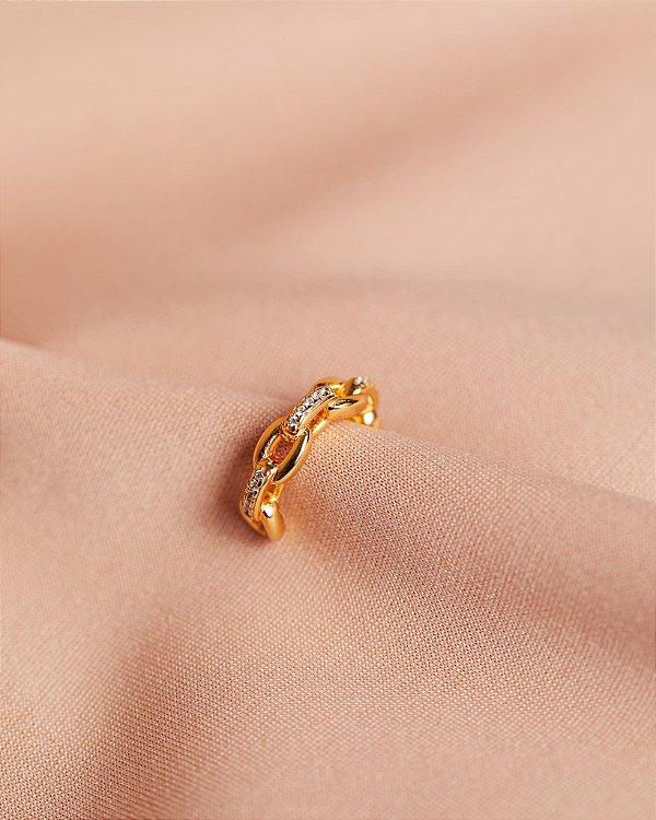 Piercing Mini Elos Dourado