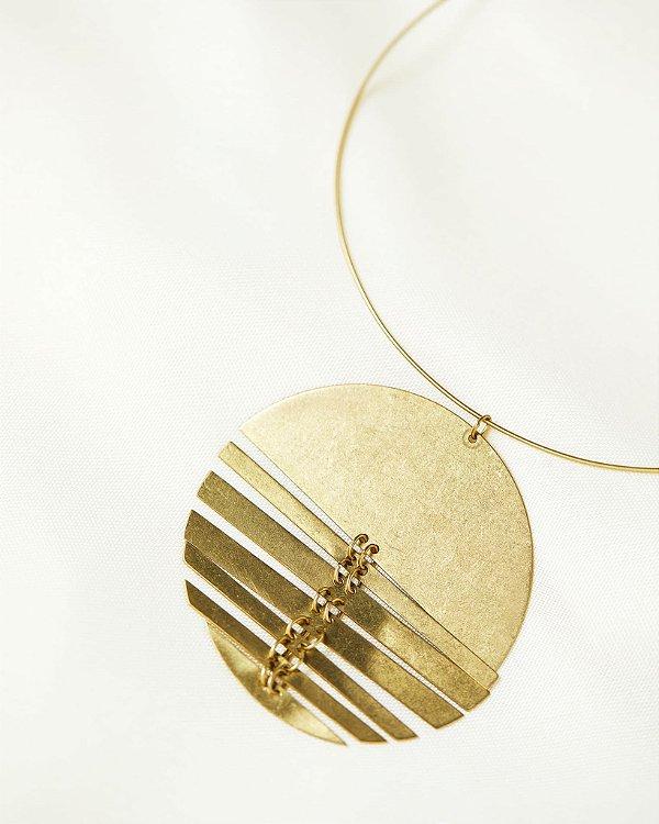 Colar Moon Reflexo Dourado, Abi Project
