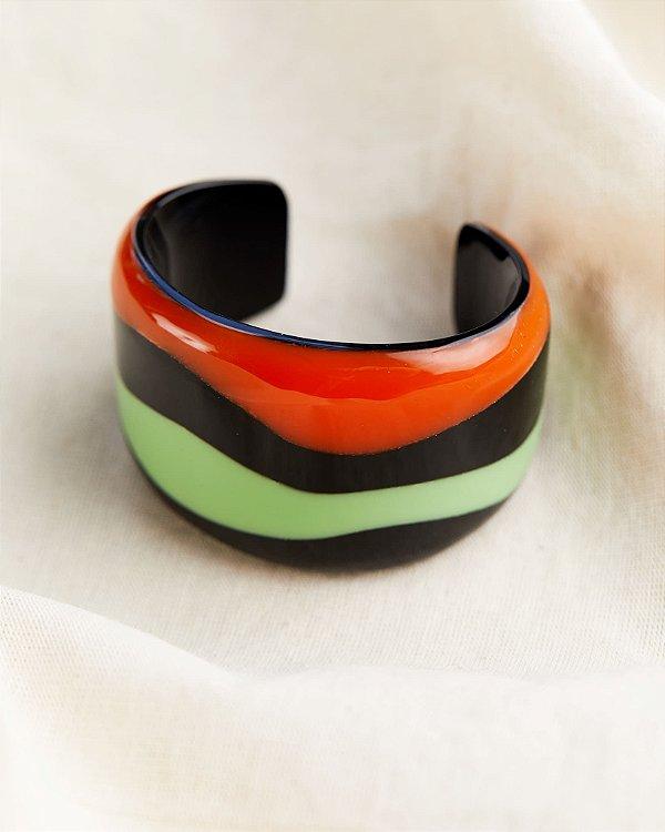Bracelete Hidra Laranja e Verde, Thai de Melo para LOOL