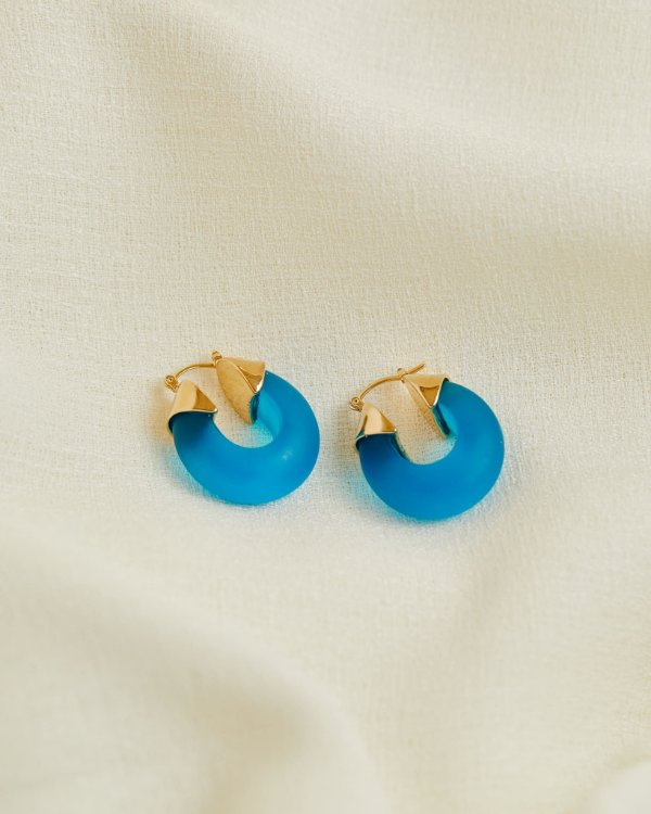 Argola Pafos Azul - Lelê Saddi para Lool