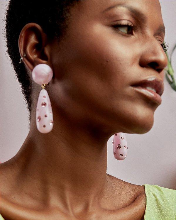 Brinco Luz Florescer Pink - Zeni Handmade