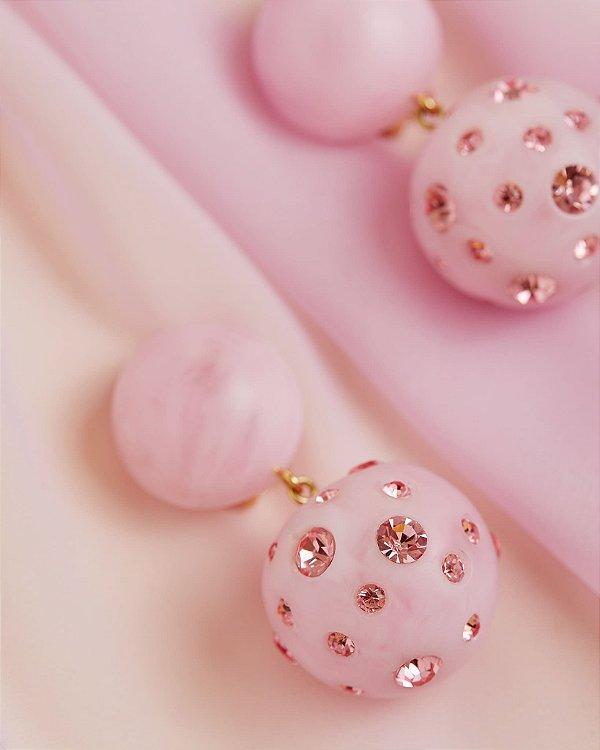 Brinco Natura Florescer Pink - Zeni Handmade