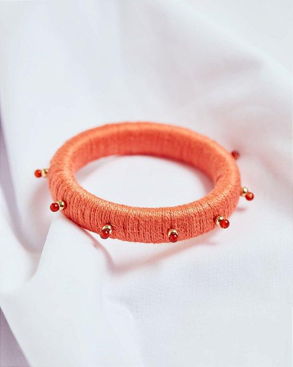Bracelete Pé de Cravo Coral - Zâmbia