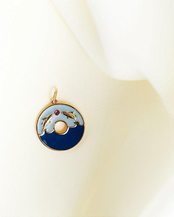 Pingente Peixe - Azul