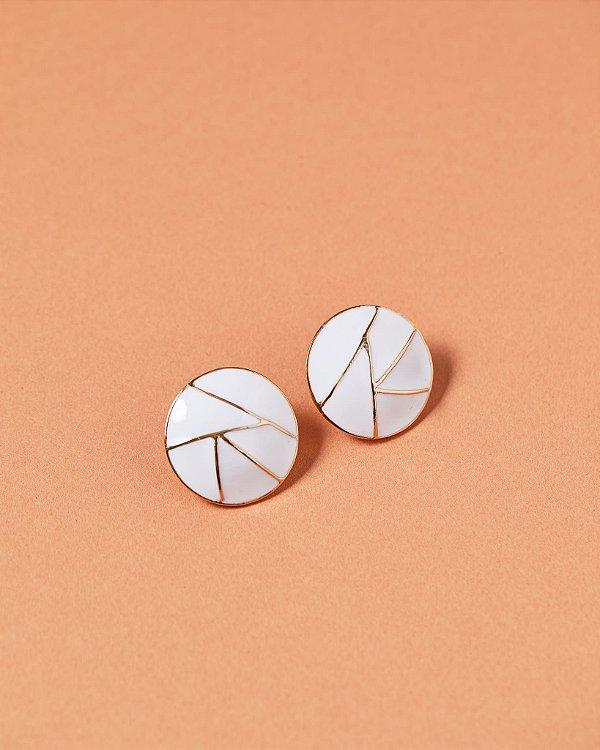Brinco Pastilha Mosaico Branco - Rosana Bernardes