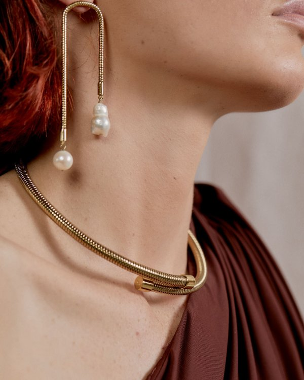 Gargantilha Snake Chain Dourada - KOA