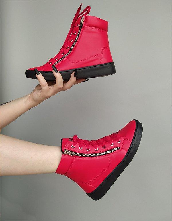 Sneaker Boot Vermelho