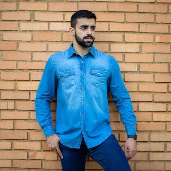 Camisa Social Benefattore Jeans - Custom Fit