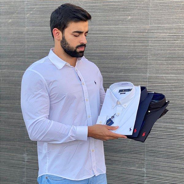Kit 3 Camisas Sociais Masculinas - Polo