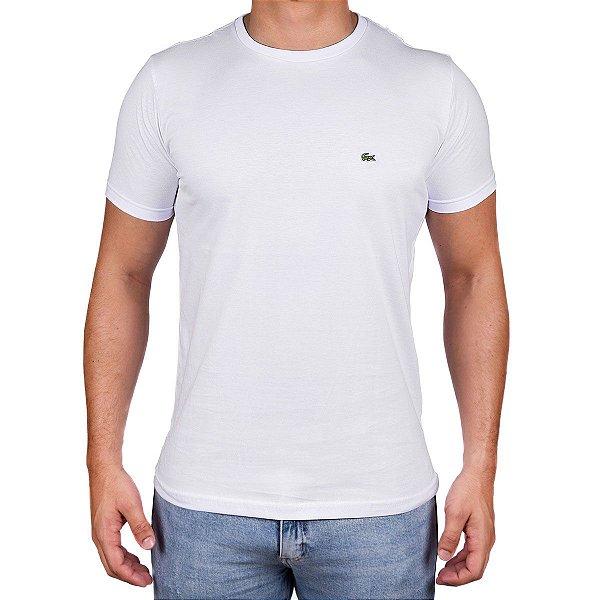 Camiseta Masculina- Lac Croco Branca