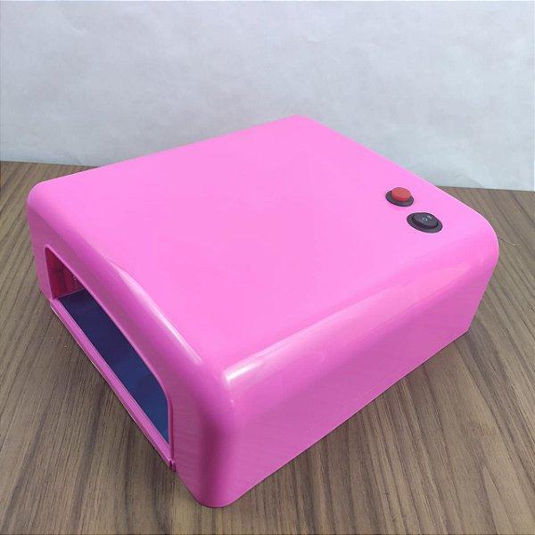 Cabine Estufa Forno UV 36w Rosa unha em gel