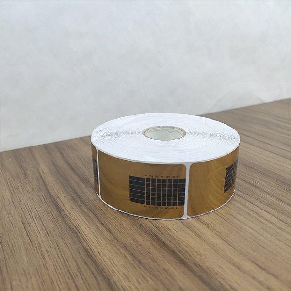 Moldes Adesivos Dourados 500 unidades