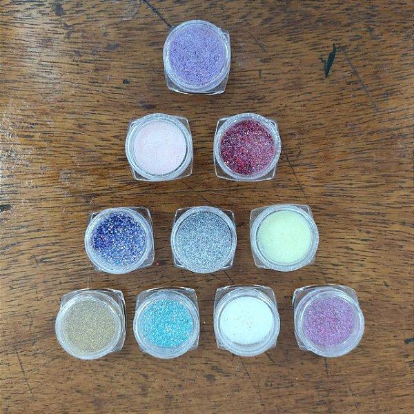 Glitter fino para decoração de unhas Pequeno