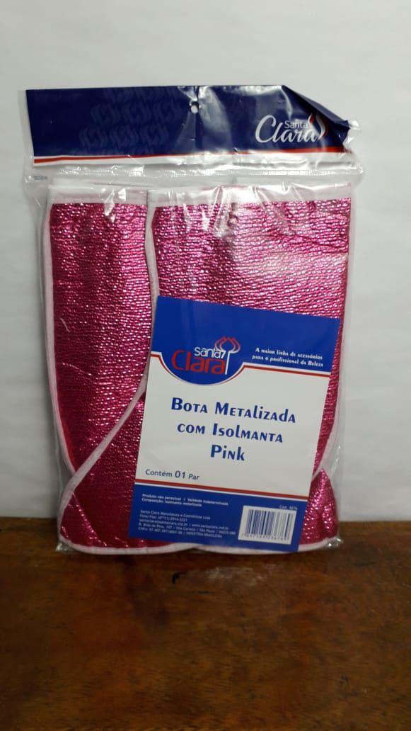 Bota Térmica Metalizada Pink com Isolmanta