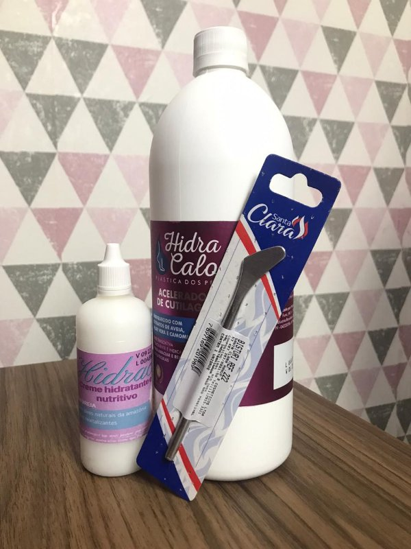 Kit Plastica dos pés - Hidracalo + Bisturi + Hidratante Hidracalo