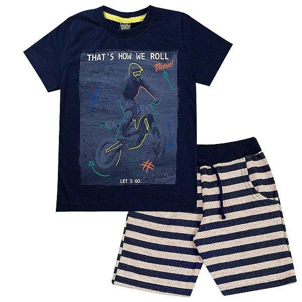 Conjunto Infantil Masculino That`s How Marinho - Tileesul