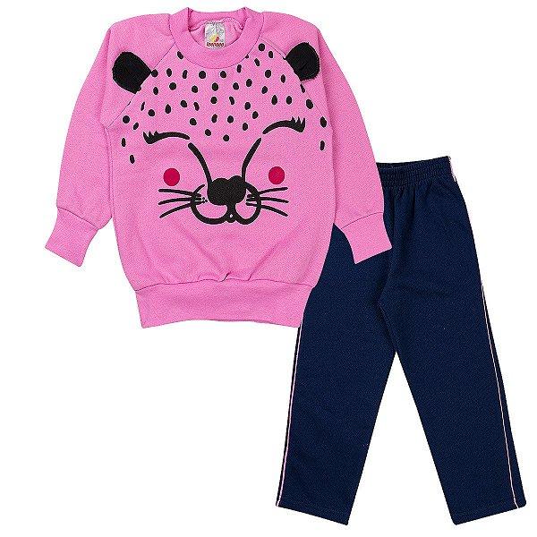 Conjunto Infantil Menina Tigre Rosa - Isensee