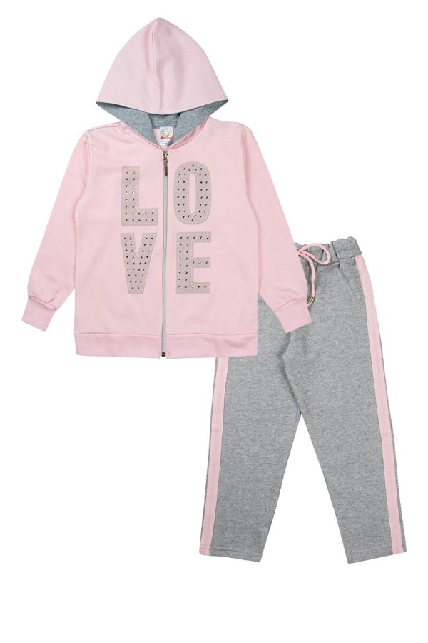 Conjunto Infantil Menina love Rosa - Isensee