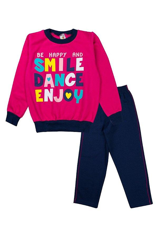 Conjunto Infantil Menina Smile Dance Pink - Isensee
