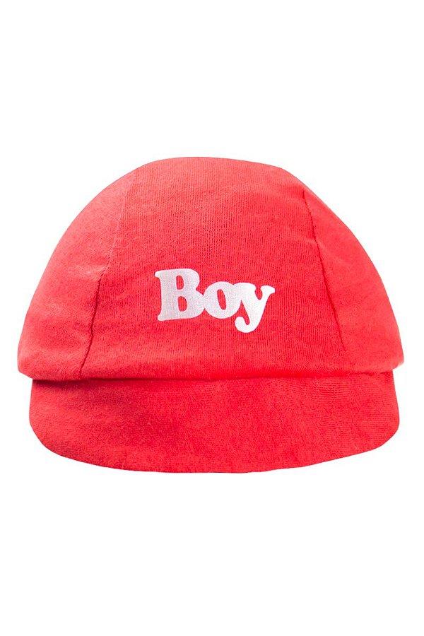 Boné Boy Infantil Bebê Masculino Vermelho - fantoni