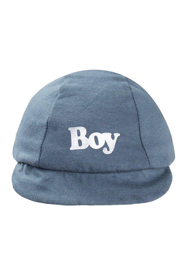 Boné Boy Infantil Bebê Masculino Cinza - fantoni