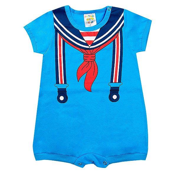 Macaquinho Infantil Masculino Bebê Azul - Fantoni