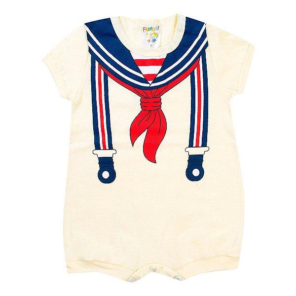 Macaquinho Infantil Masculino Bebê Pérola - Fantoni
