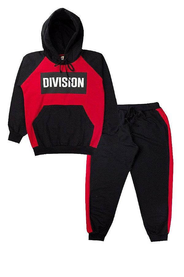 Conjunto de Moletom Infantil Masculino Division Vermelho