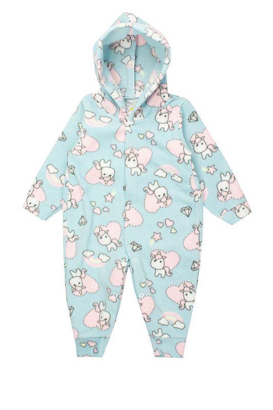 Macaquinho Bebê Menina Soft Estampado Azul - Isensee