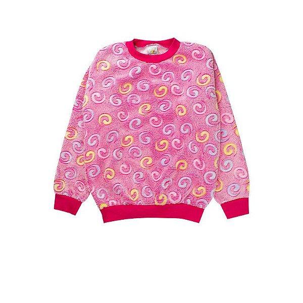 Casaco Infantil Feminino Pelo Sherpa Pink Isensee