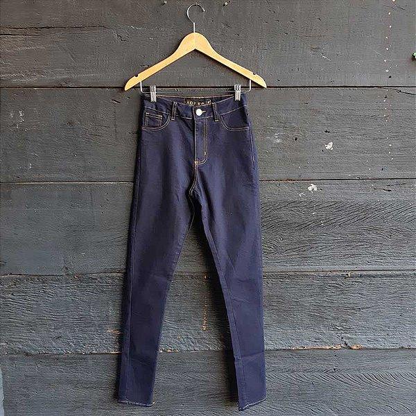 Calça Jeans Azul Carbono Cintura Alta