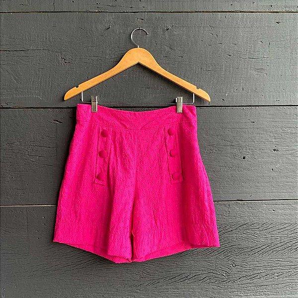 Bermuda Laise c/ Botões Forrados Pink