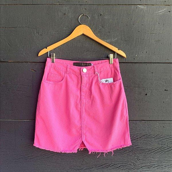 Saia Jeans Rosa Chiclete