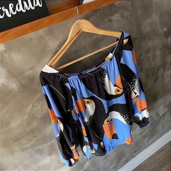 Blusa Ombro a Ombro Tucano Azul