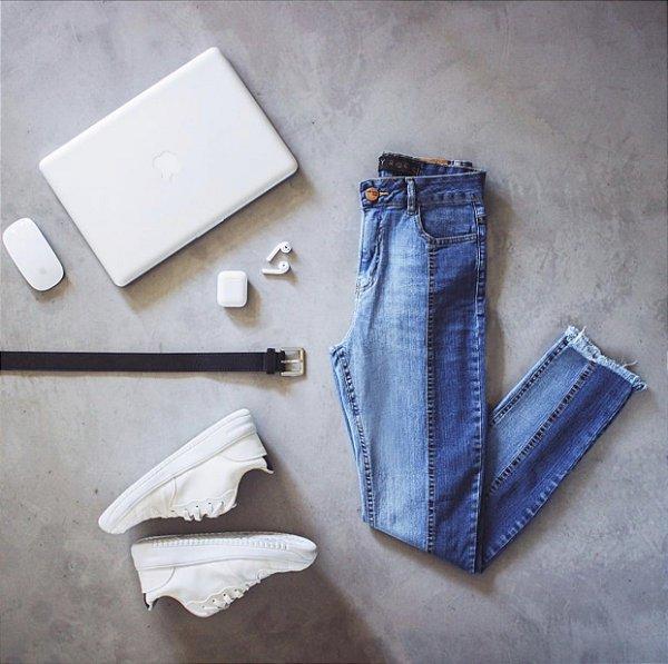 Calça Jeans Bicolor Lady Rock