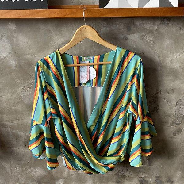 Blusa Cache Coeur Listrada Verde