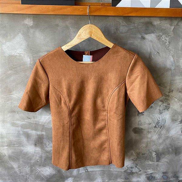 Tshirt Suede Caramelo