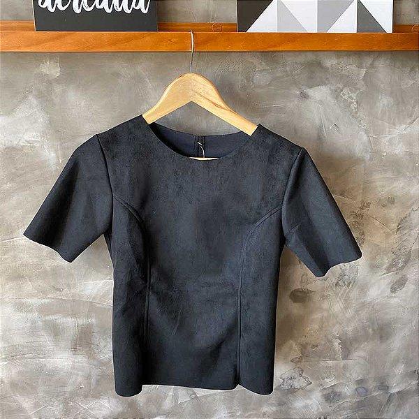 Tshirt Suede Preta