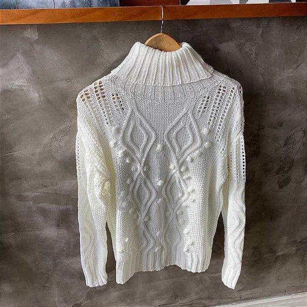 Tricot Gola Alta Off White Sonho De Consumo Store