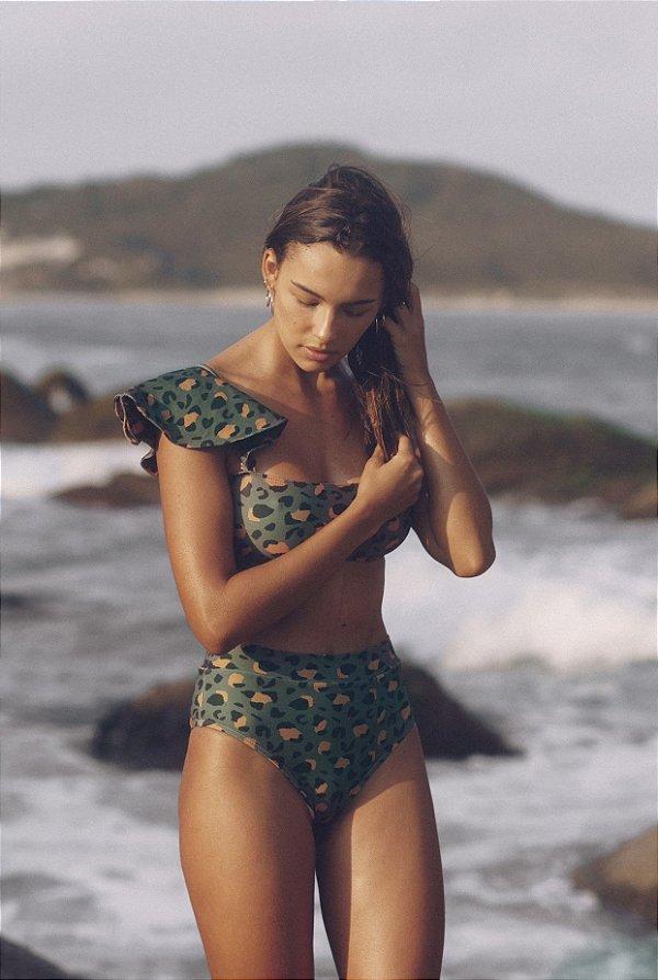 Biquíni Hot Pant Animal Print Verde Hy Brasil