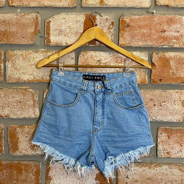 Short Jeans Hot Pant Lavagem Clara Lady Rock