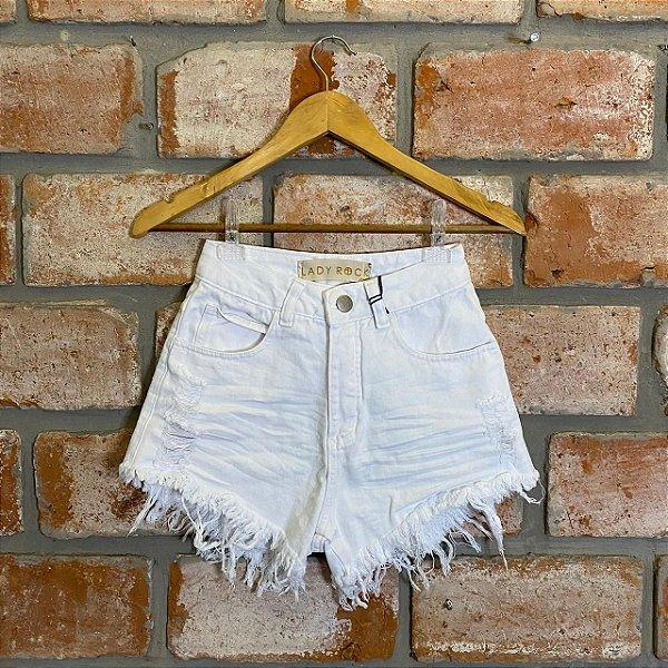 Short Jeans Destroyed Branco