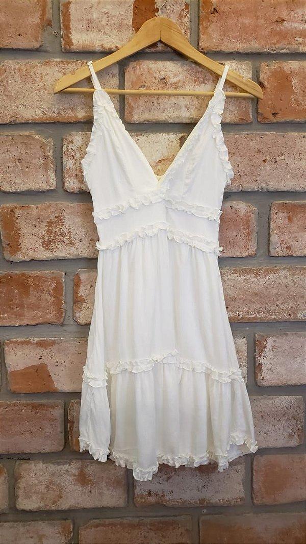 Vestido Alcinha Viscose Branco