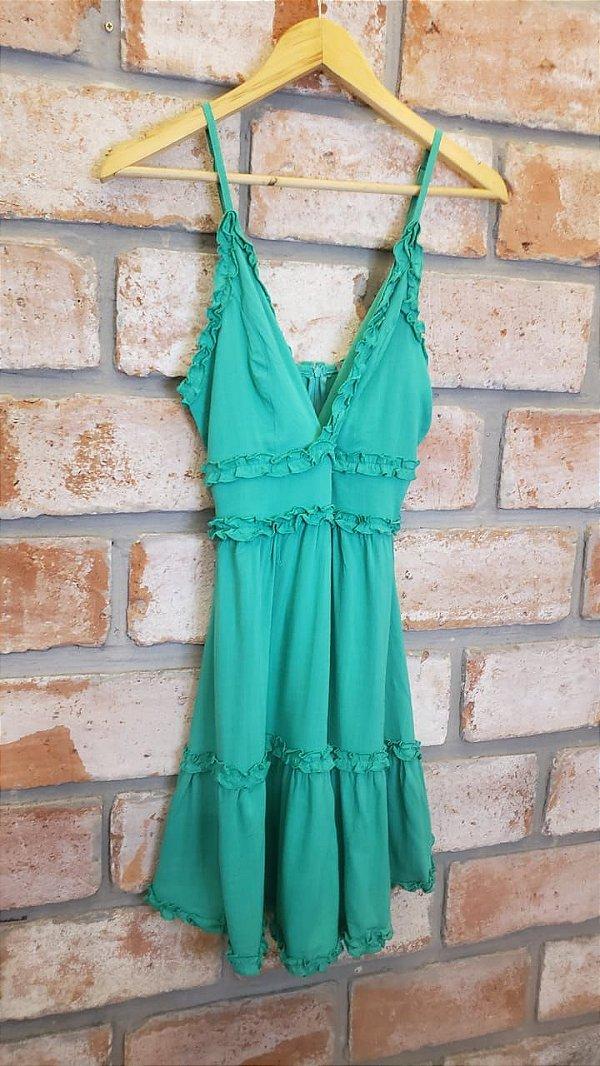 Vestido Alcinha Viscose Verde