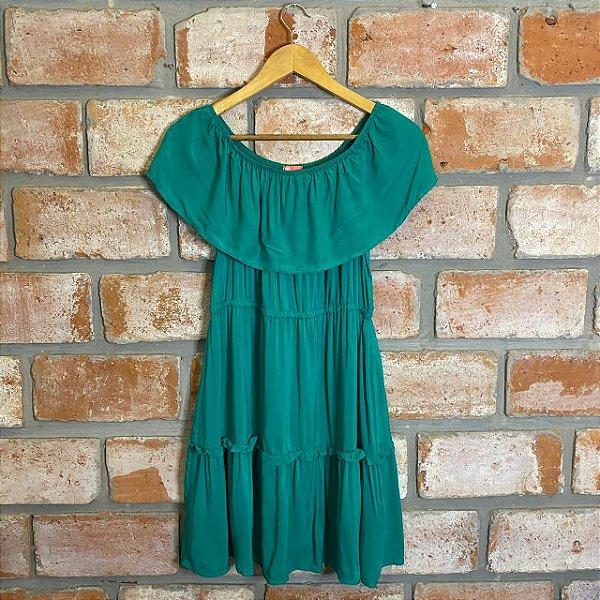 Vestido Viscose Ombro a Ombro Verde
