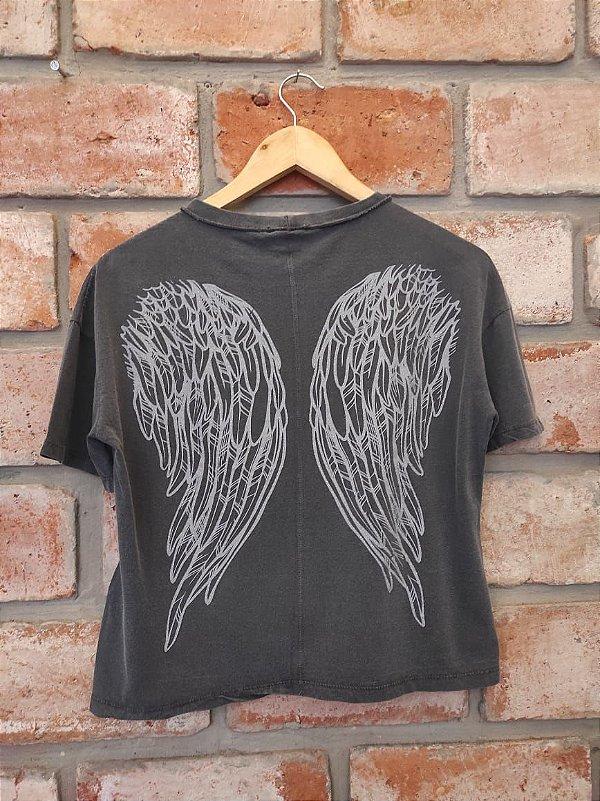 T-shirt Asas Lady Rock Chumbo